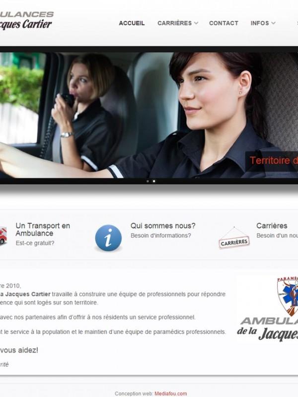 ambulancejc.com une réalisation web de Média Fou