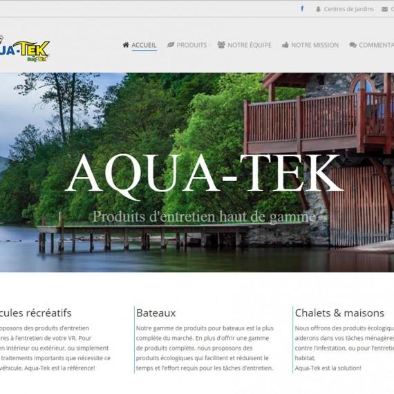 Aqua-Tek une réalisation web de Média Fou