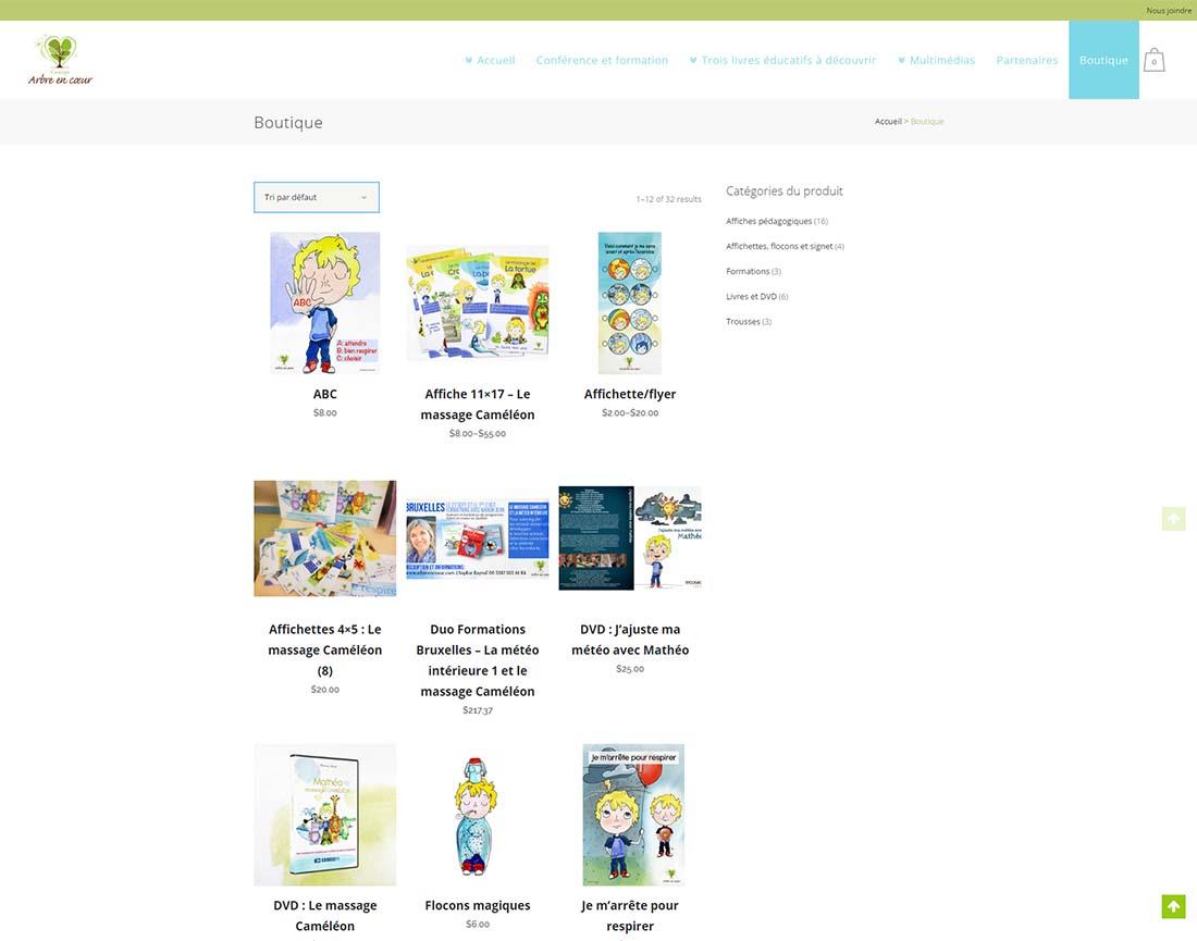 Arbreencoeur.com une réalisation web de Média Fou