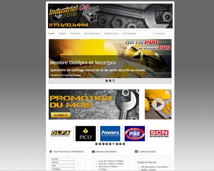Industriel plus inc. une réalisation web de Média Fou