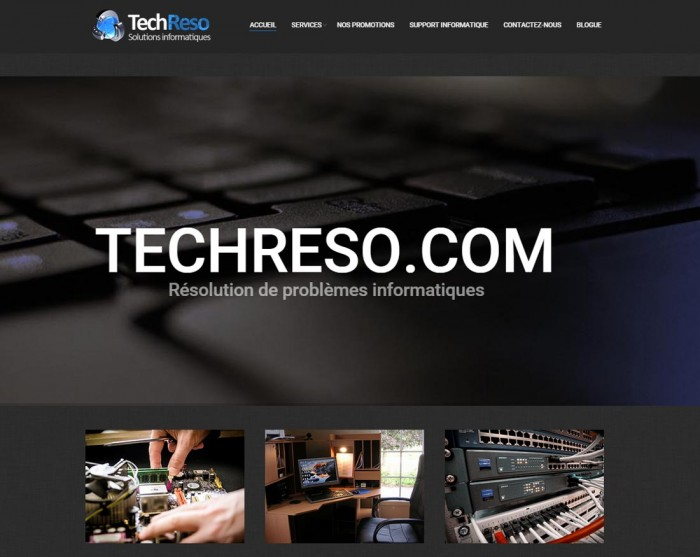 Techreso.com une réalisation web de Média Fou