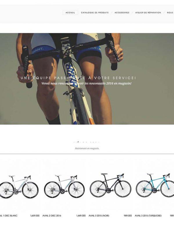 Vélo2Max une réalisation web de Média Fou
